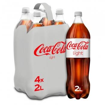 Coca Cola light pack de 4 botellas de 2 l.