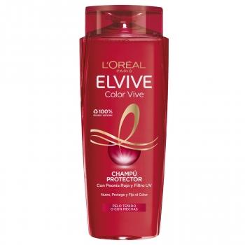 Champú protector para el pelo teñido Color Vive Elvive L'Oréal Paris 690 ml.