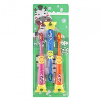 Cepillo dental infantil + 3 años Carrefour 3 ud.
