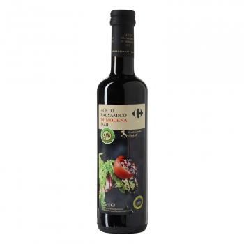 Vinagre balsámico de módena Carrefour 250 ml.