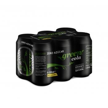 Green Cola zero azúcar pack 6 latas 33 cl.