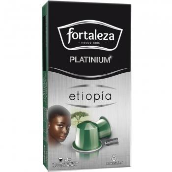 Café natural en cápsulas Etiopía Fortaleza compatible con Nespresso 10 unidades de 5 g.