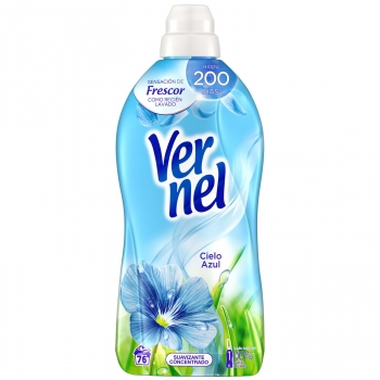 Suavizante concentrado frescor cielo azul Vernel 76 lavados.