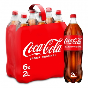 Coca Cola pack 6 botellas 2 l.