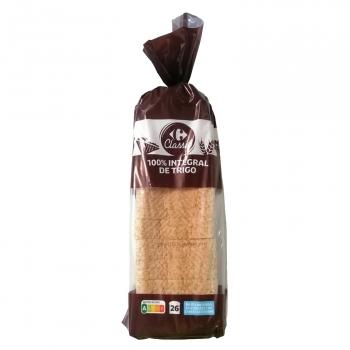 Pan de Molde Integral con Corteza Carrefour 820 g.