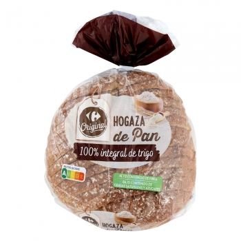 Hogaza de Pan 100% Integral Carrefour 500 g.