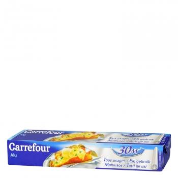 Papel de aluminio Carrefour 30 metros.