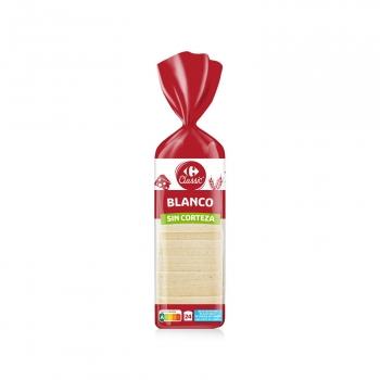 Pan de molde sin corteza Carrefour 820 g.