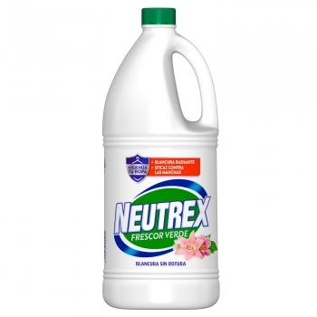 Lejía lavadora perfumada frescor verde acción total Neutrex 1,8 l.