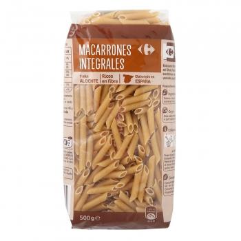 Macarrones integrales Carrefour 500 g.
