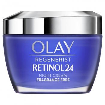 Crema facial hidratante de noche con retinol sin fragancia Regenerist Retinol24 Olay 50 ml.