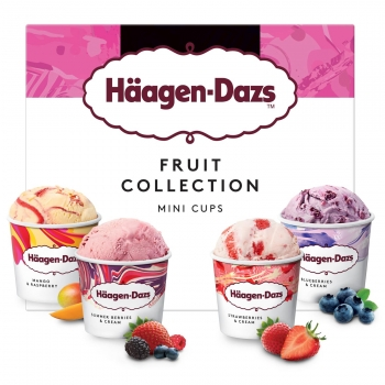 Surtido de helados Fruit Collection Häagen-Dazs sin gluten 4 ud.