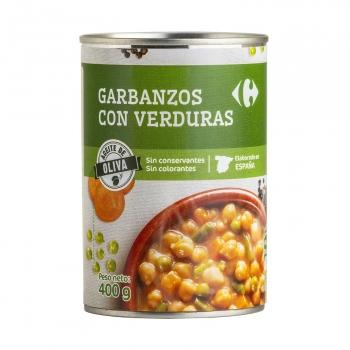 Garbanzos con verduras Carrefour 400 g.