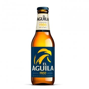 Cerveza rubia El Águila botella 25 cl.