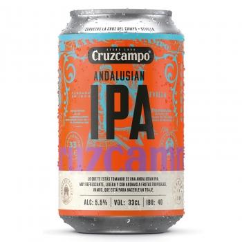 Cerveza Cruzcampo Ipa Andalusian lata de 33 cl.