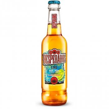 Cerveza Desperados sabor tequila, lima y cactus botella 33 cl