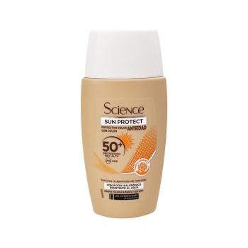 Crema solar antiedad con color SPF 50+ Les Cosmetique 50 ml.