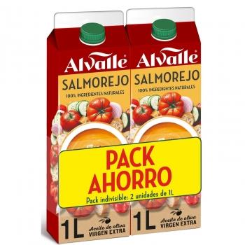 Salmorejo Alvalle pack de 2 unidades de 1 l.