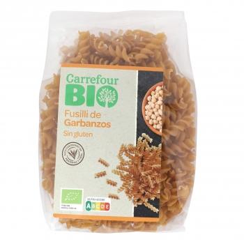 Fusilli de garbanzos ecológicos Carrefour Bio sin gluten 250 g,