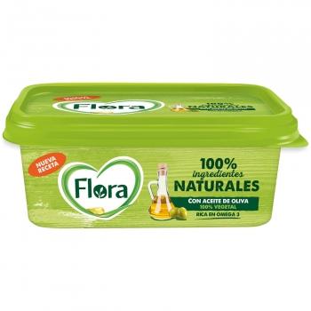 Margarina con un toque de aceite de oliva Flora sin gluten sin lactosa 250 g.