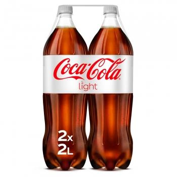 Coca Cola light pack 2 botellas 2 l.