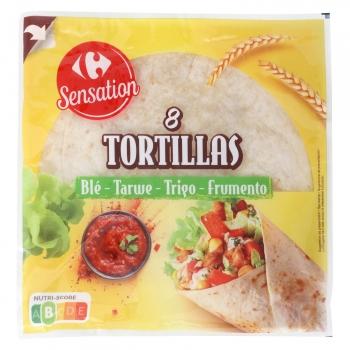 Tortillas de trigo Carrefour Sensation 320 g.