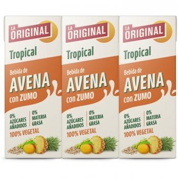 Bebida de avena con zumo tropical La Original pack 4 briks 20 cl.