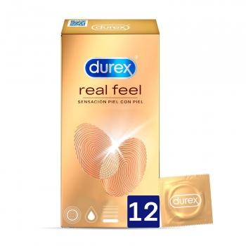 Preservativos sensación piel con piel Durex 12 ud.