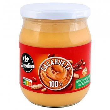 Crema de cacahuete 100% Carrefour sin gluten 500 g.