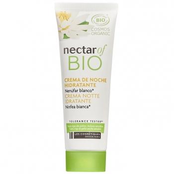 Crema de noche hidratante nenúfar blanco ecológico Nectar Of Bio Les Comestique  50 ml.