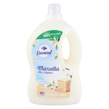 Detergente líquido jabón de marsella y flor de naranjo Carrefour 75 lavados.