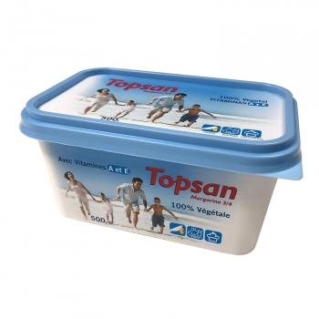 Margarina 3/4 100% vegetal Topsan 500 g.