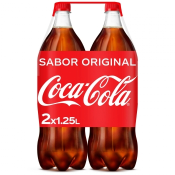 Coca Cola pack 2 botellas 1,25 L.