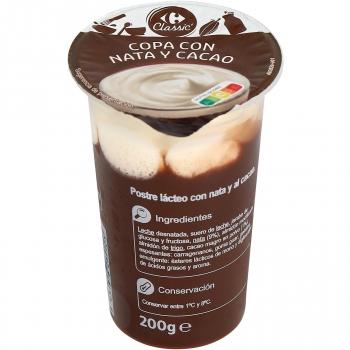 Copa con nata y cacao Carrefour Classic' 200 g.
