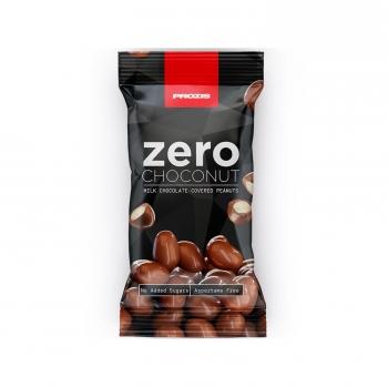 Cacahuetes recubiertos de chocolate Zero Prozis 40 g.
