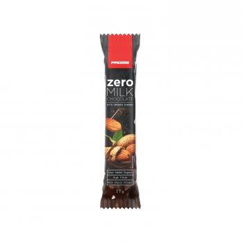 Chocolate con leche y almendra Zero Prozis 27 g.