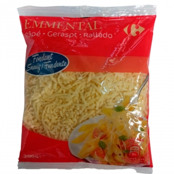 Queso rallado emmental Carrefour 200 g.