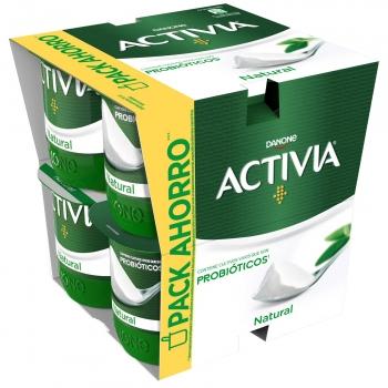 Yogur bífidus natural Danone Activia pack de 8 unidades de 120 g.