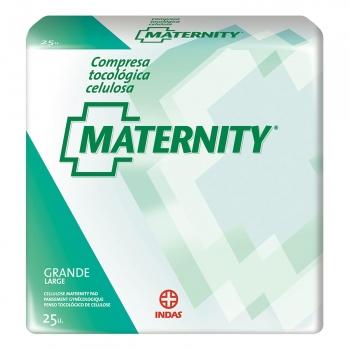 Compresa tocológica de celulosa grande Maternity 25 ud.