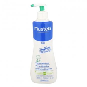 Gel de baño suave cuerpo y cabello Mustella 500 ml.