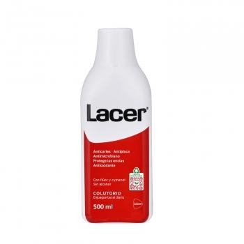 Colutorio anticaries, antiplacas y antimicrobiano Lacer 500 ml.