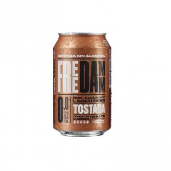 Cerveza tostada Free Damm 0.0 alcohol lata 33 cl.