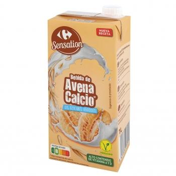 Bebida de avena calcio sin azucar añadido Carrefour brik 1 l.