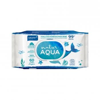 Toallitas húmedas para bebé Natur Aqua Salustar 60 ud.