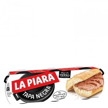 Paté de hígado de cerdo Tapa Negra La Piara pack de 3 unidades de 75 g.