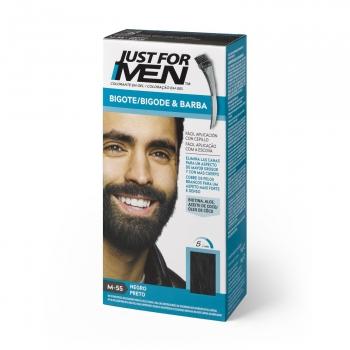 Colorante en gel bigote y barba negro Just for Men 15 ml.