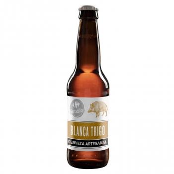 Cerveza artesana Carrefour Sensation Blanca Trigo botella 33 cl.