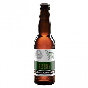 Cerveza artesana Carrefour Sensation Reserva botella 33 cl.
