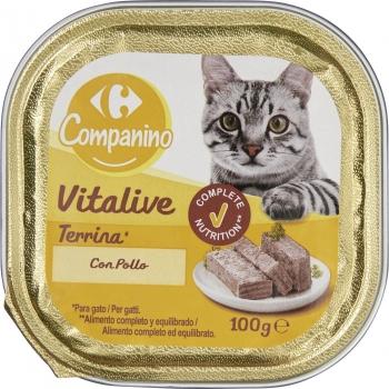 Tarrina para Gato de Pollo 100 gr, Carrefour