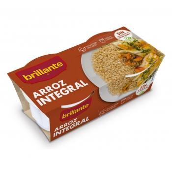 Arroz integral para microondas Brillante pack de 2 unidades de 125 g.